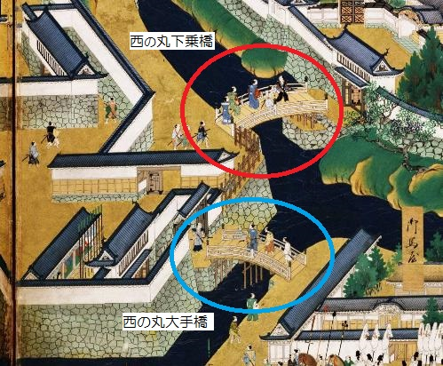 江戸城西の丸大手門屏風絵図 ○.jpg