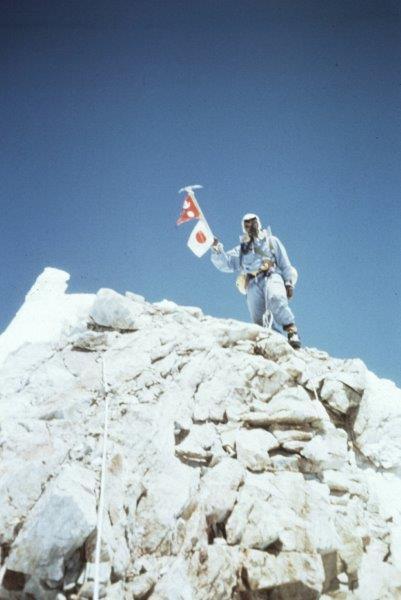 1956第三次マナスル登山隊 マナスルの頂に立った今西寿雄隊員.jpg